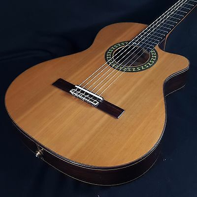 Alhambra 5P CT E1 Thinline Acoustic Electric Classical Nylon String Guitar w/Bag