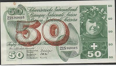 Switzerland , 50 Franken , 23.12.1965 , P 48f , Series 21S