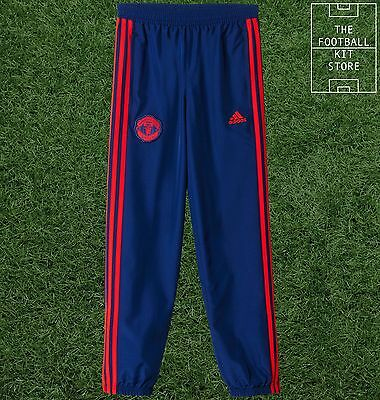 Manchester United Tracksuit Bottoms - Official adidas Man Utd Pants - Boys Sizes