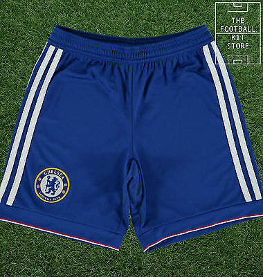 Chelsea Home Shorts - Official Adidas Boys Football Shorts - All Sizes