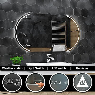 KAIR  Illuminated Led bathroom mirror - Weather Station | Switch | Demister