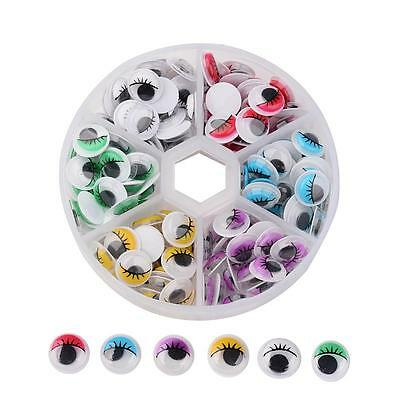 Googly Eyes with Eyelashes. Assorted Colour 10mm.
