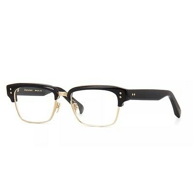 DITA STATESMAN BLACK & GOLD GLASSES EYEGLASSES DRX-2011G-52mm W/Case Square