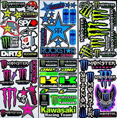 6 fantastic sheets Xtv motocrosss stickers mx energy drink promo bike SCOOTER