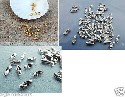 25 Bead Chain End Connector Clasp for 1.5-2mm ball chain,silver/gold colour new