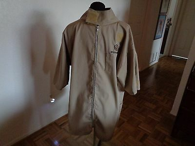 Lovell  WorkWear Original Woodturner  Shop Smock Beige Zip Front Size Small