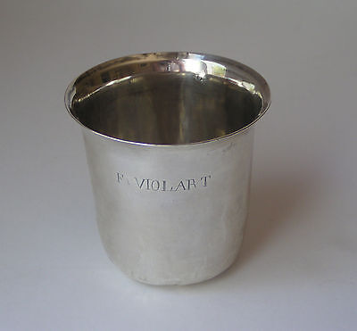 French Sterling Silver Tumbler Cup Paris c1809 - 1819 Hallmarked