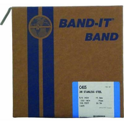 """BAND-IT C40599 316 Stainless Steel Uncoated Band, 5/8"""" Width X 0.030"""" Thick, New"""