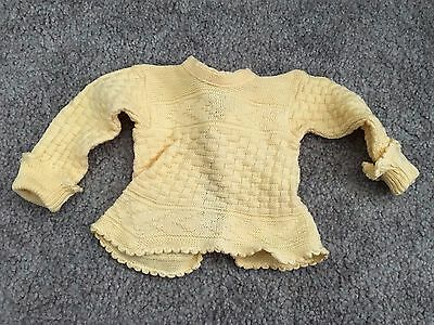 Vintage Yellow Baby or Doll Sweater – ca1940s