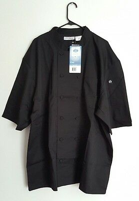 Chef Works Chef Jacket COOL VENT Size 3XL Black. NWT.