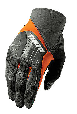 THOR MX Motocross Men's 2017 REBOUND Gloves (Charcoal/Orange) L (Large)