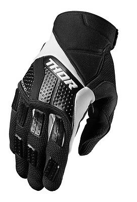 THOR MX Motocross Men's 2017 REBOUND Gloves (Black/White) XL (X-Large)