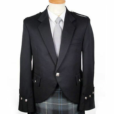 100% Wool  Handmade Scottish Argyle kilt Jacket & Waistcoat/Vest Wedding Dress
