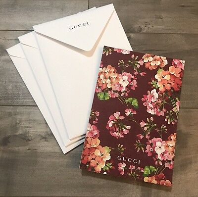Gucci Floral Geranium Look Book *NEW With Gucci Envelope