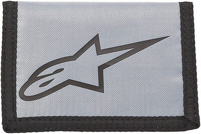 ALPINESTARS Solid Textile Tri-Fold Wallet (Gray) One Size