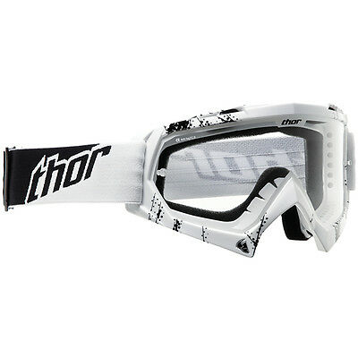 THOR MX Motocross Enemy Goggles (Web White/Black) Kids One Size