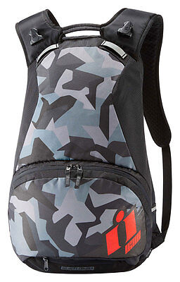 ICON Stronghold Motorcycle Backpack w/ Laptop Compartment (Black/Camo/Red)
