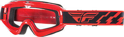 FLY RACING MX Motocross MTB BMX - Kids Focus Goggles (Red w/Clear Lens) Youth
