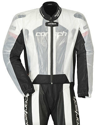 CORTECH Road Race Rain Jacket for Motorcycle Track Suit (Clear) M (Medium)