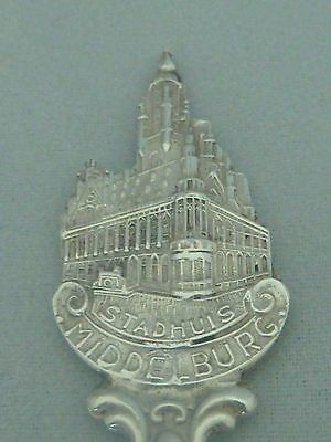 One vintage Dutch 835std solid silver souvenir spoon - Stadhuis Middelburg - 12g