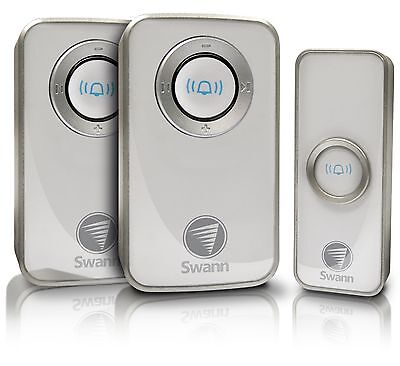 Swann Wireless Door Chime Twin Pack With Mains Power - MODEL SWHOM-DC820P2-AU