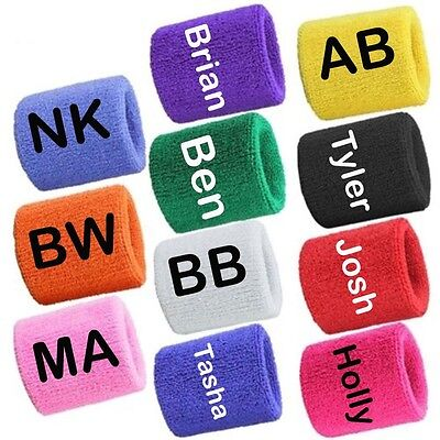 Sports Wrist Sweatbands Tennis Squash Badminton GYM Wristband UK (Sold in Pairs)