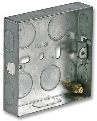 METAL BACK BOX 1 GANG 16MM Electrical Back Boxes/Mounting Boxes