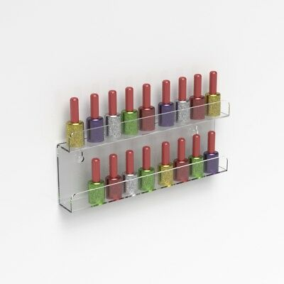 Wall Mounted Acrylic Nail Polish Display Shelf Nail Varnish Bottle Stand Holder