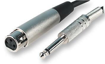 "LEAD, XLR F TO JACK 2P P, 1M . Connector Type A 6.35mm (1/4"") Mono Jack Plug"