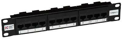 "PATCH PANEL 10"" 12 WAY CAT6 Connectors Patch Panels, PATCH PANEL, 10"", 12"