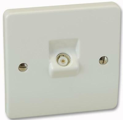 WALLPLATE 1G TV/FM CO-AX SOCKET Electrical Switches & Socket Outlets