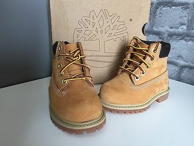 Brand New Timberland Wheat Waterproof Boots Shoes For Kids Toddler Boys UK 3.5