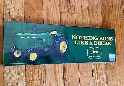 John Deere Wood Logo Tractor Sign 15x5 Wooden Wall Decor Man Cave Boys' Room NEW