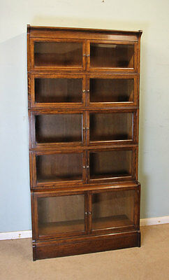 Antique Oak Sectional Stacking Library Bookcase / Globe Wernicke Type / Cabinet