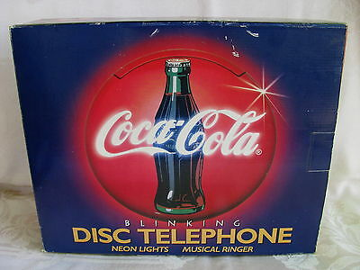 VinTage~COCA COLA~Neon~BLINKING~Light~DISC~Wall~DeskTop~PHONE~Musical~NEW-in-BOX