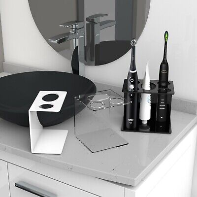 Electric Toothbrush Holder 1, 2, 3 and 4 Toothbrush & Toothpaste Holder