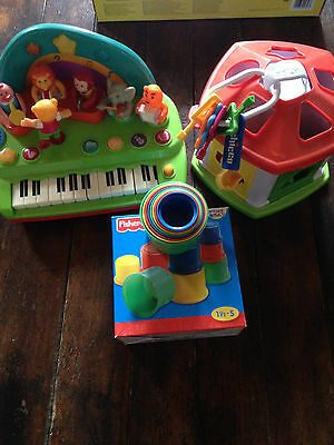 Lot 3 Jouets Jeu 1Er Age Et + Fisher Price Chicco Piano Formes Gobelets Gigognes