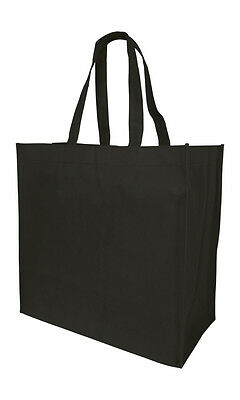 Jumbo Size Grocery Tote Shopping Bag Black Reusable Eco Friendly Large Bags