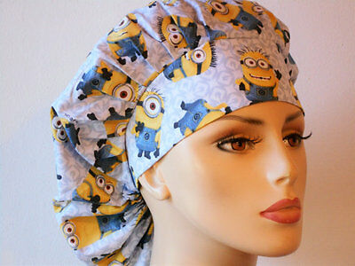 Scrub Hats Minions Indispicable Me #3 Bouffant Stlye Handcrafted in the USA