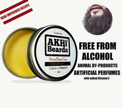 Akhi Beards - Original Beard Balm - NEW - 100% Natural - Conditions
