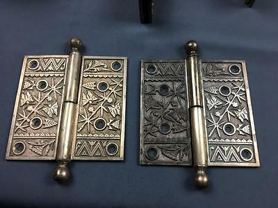 2 AntQ Fine Bronze Casting Door Hinges Detailed Insects Hardware