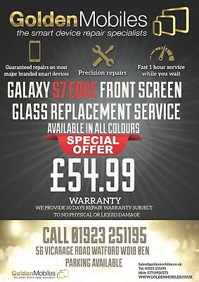 Samsung Galaxy S7 Edge Cracked Front Lcd Screen Glass Replacement Repair Service