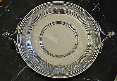 Sterling Sandwich Plate with Handle in Wedgwood by International Silver
