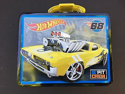 Hot Wheels Cars Kids Boys Metal Tin Lunch Box Carry Case Bag Collectible