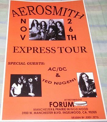 Aerosmith Express Tour 1977 Replica Poster W/top Loader