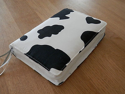 New World Translation 2013 Zipped Fabric Bible Cover - Cow Print