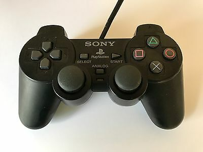 PS2 Original Controller Schwarz DualShock 2 Sony PlayStation SCPH-10010