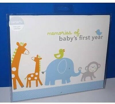 Carter's MY FIRST YEAR Book Baby Boy Memory Keepsake Baby Shower Christmas Gift