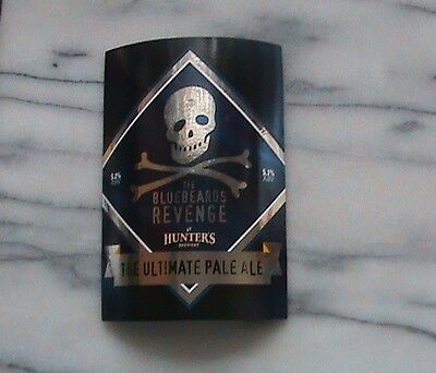 Hunters The Bluebeards Revenge Real Ale Beer Pump Clip Sign