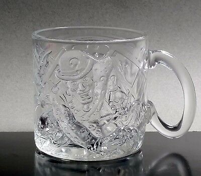 McDonald's The Riddler, Batman Forever Movie 1995 Glass Embossed Mug, D C Comics